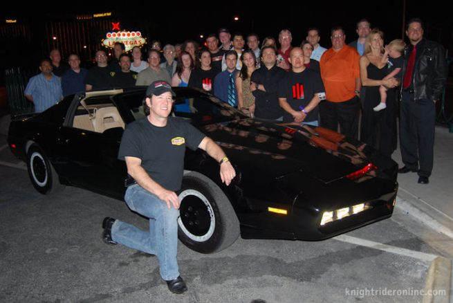 Paul Casey and the Friday Knight Rider crew