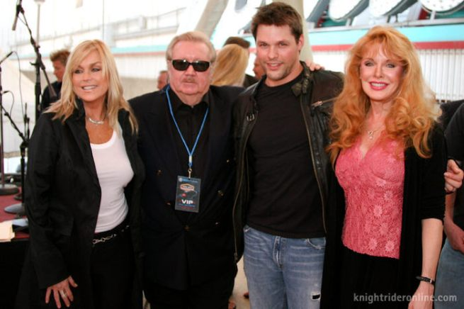 catherine-hickland-glen-a-larson-justin-bruening-and-rebecca-holden old Knight Rider meets the new!
