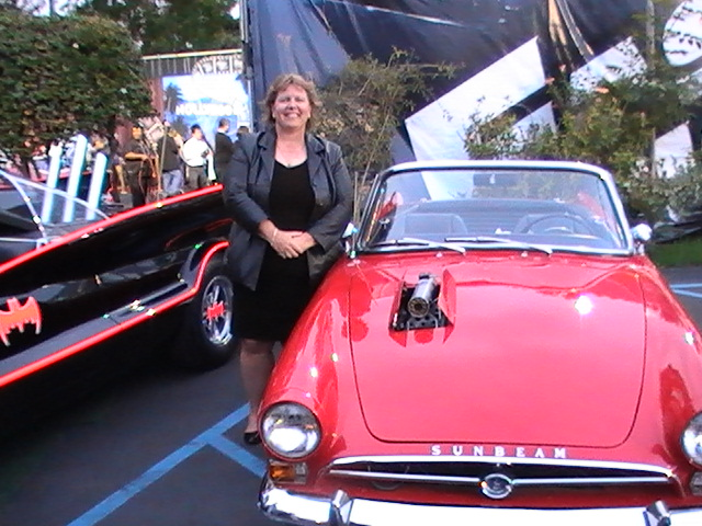 "Sue ""Beaming"" next to her Get Smart Sunbeam"