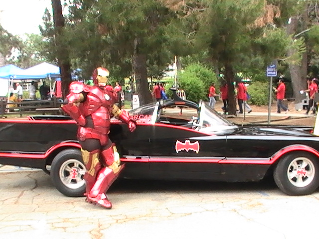 iron man and batmobile