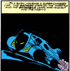 batman#5 first batmobile panel