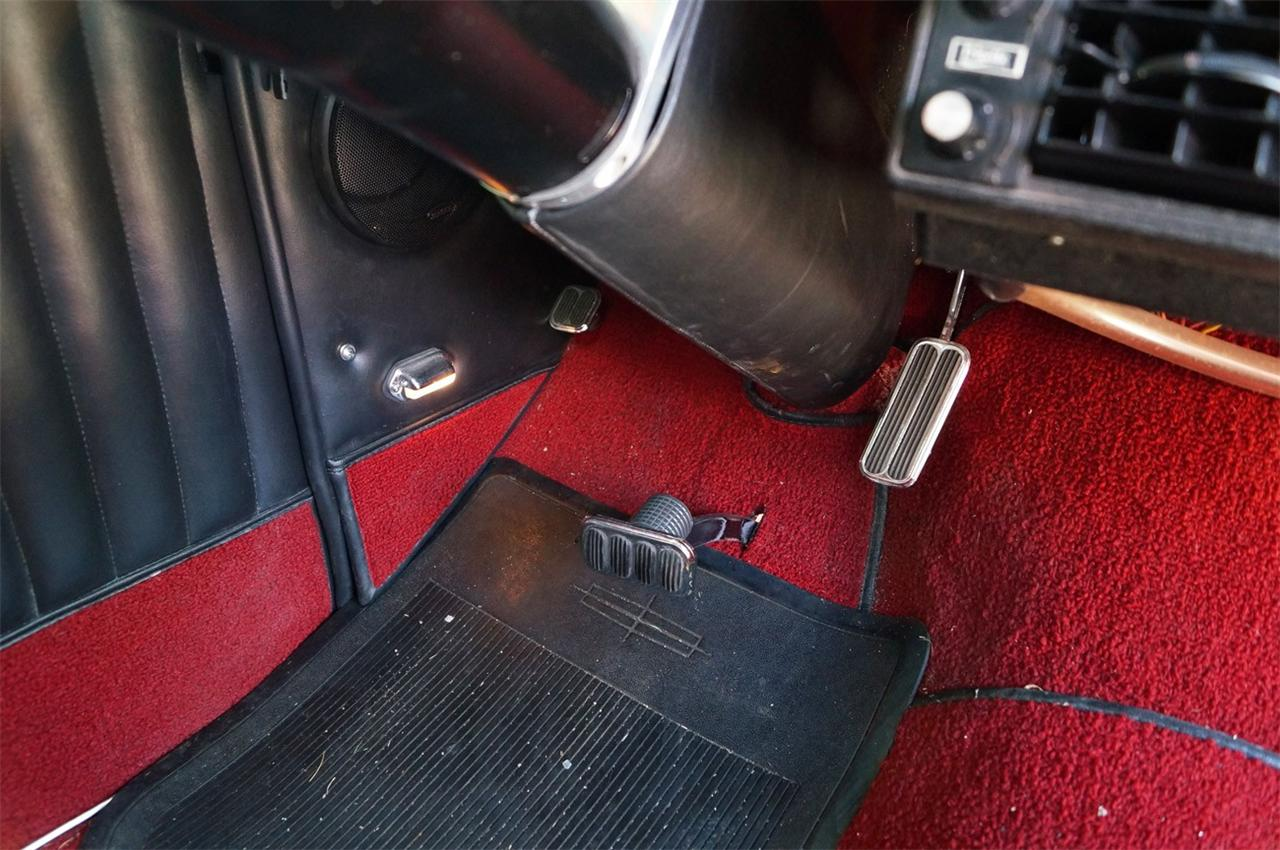 driver side pedals
