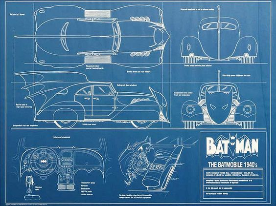 fin and bat face blueprints star car central famous